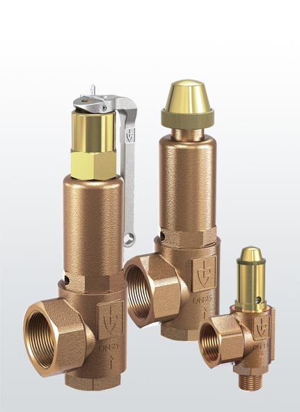Series safety valve for mechanical engineering